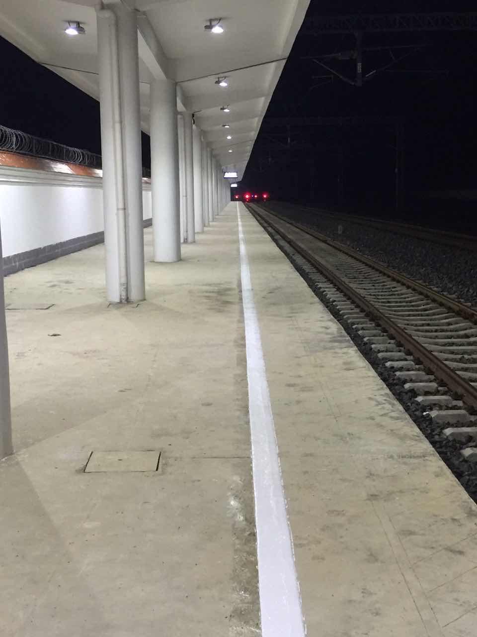 火车站站台施工