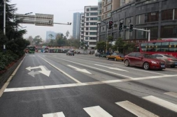 贵阳路口交通划线